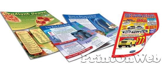 leaflet advertisement